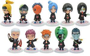 Naruto Figures Lot 11pc Set Uchiha Itachi Sasuke Akatsuki Sasuke Orochimaru More