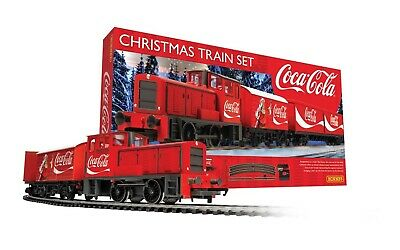 Hornby R1233 Coca Cola Christmas Train Set 1:76 Scale Steam Locomotive OO Gauge