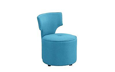 - Contemporary Retro Style Chair Round Upholstered Accent Chair Furniture Sky Blue