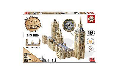 Puzzle 3D Legno 156 Pezzi Monumento Tower Big Ben London Grandi Giochi 56x17x29