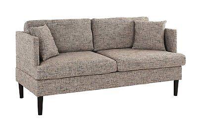 Modern Upholstered Classic Loveseat Sofa/Couch, Linen,