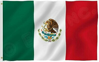 New 3'x5' Polyester MEXICO FLAG Mexican Country Outdoor Banner Grommets Décor