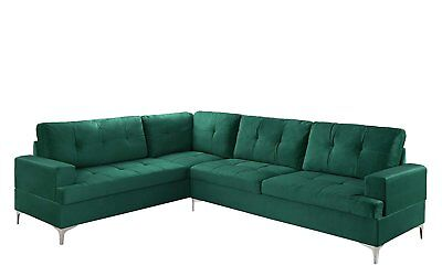 large tufted velvet sectional sofa living room