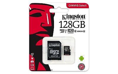 MICRO SD CARD 128GB KINGSTON UHS-I CLASSE 10 CON ADATTATORE SD 80 MB/S CORRIERE