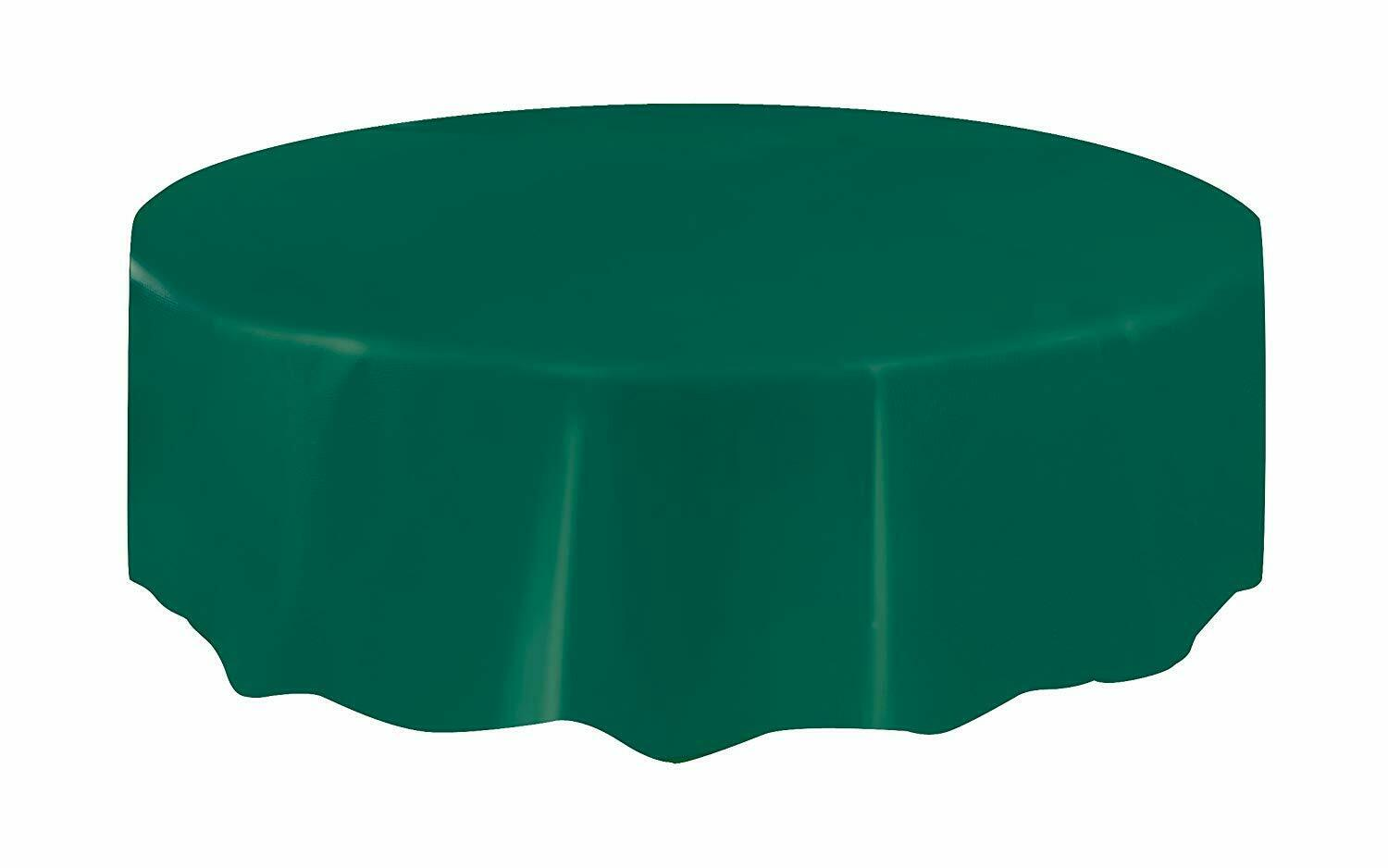 Halloween Party Ideas - Green 7ft (2.13m) Round Plastic Tablecloth Table Cover
