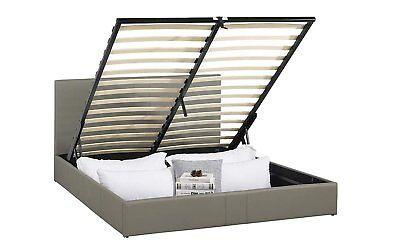 Ultra Modern Upholstered Platform Bed Frame with Under Bed Storage (Grey, -