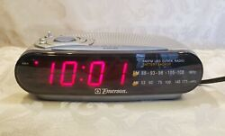 Emerson CK5029 AM/FM LED Clock Radio with Snooze, Battery Backup, Dimmable