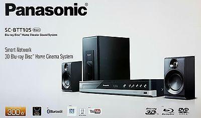 Panasonic SC-BTT105EG9 2.1 Blu-ray Heimkinosystem, 300W,Bluetooth,USB (B5257-1)