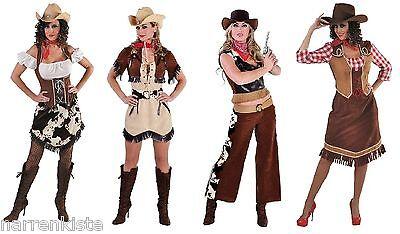 Cow Girl Kostüm Kleid Wilder Westen Saloon Damen Cowgirlkostüm Cowboy -