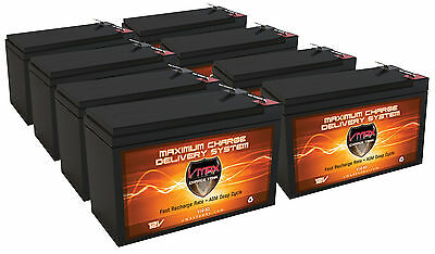 (8) VMAX63 12V 10Ah AGM SLA Battery for Electric Scooter Schwinn S180 / Mongoose