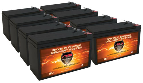 (8) VMAX63 12V 10Ah AGM SLA Battery for Electric Scooter Schwinn S180 / Mongoose