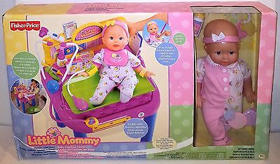 (NEW IN IMPERFECT BOX) Fisher Price Little Mommy Baby Checkup Center w/Doll RARE