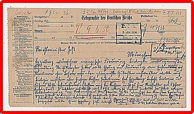 Reichsminister Heß 1936 Telegramm!!!!!