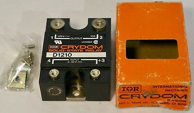Crydom D1210 Solid-state Relay 120vac 10a Output 3-32vdc Input New In Box