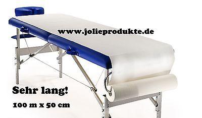 100 m x 50cm Hygiene-Rolle Massageliege,Kosmetikliege, Arzliegenabdeckung,Vlies!