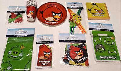 60 tlg Angry Birds  Party-Set Geburtstag Becher Teller Servietten Ballons