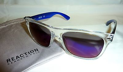 Kenneth Cole Reaction KC1240 Women's Square Sunglasses 5526C CLEAR TRANSLUCENT