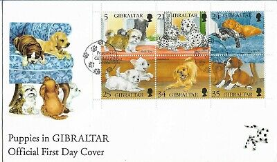 Gibraltar 1996 Puppies MS FDC
