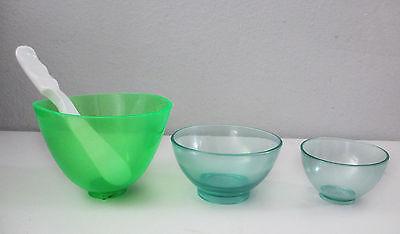 3 Dental Lab Flexible Mixing Bowls Large Med Small 2 Spatulas
