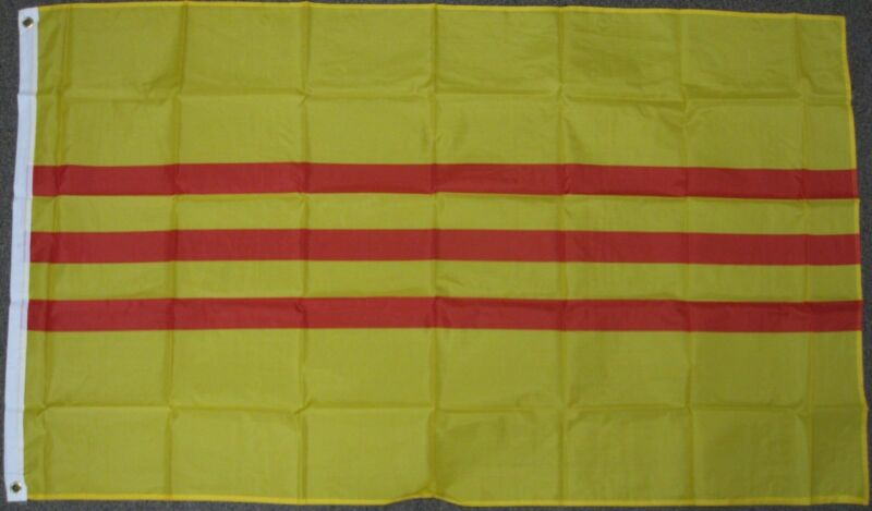 3X5 SOUTH VIETNAM FLAG VIETNAMESE BANNER SVA WAR F215
