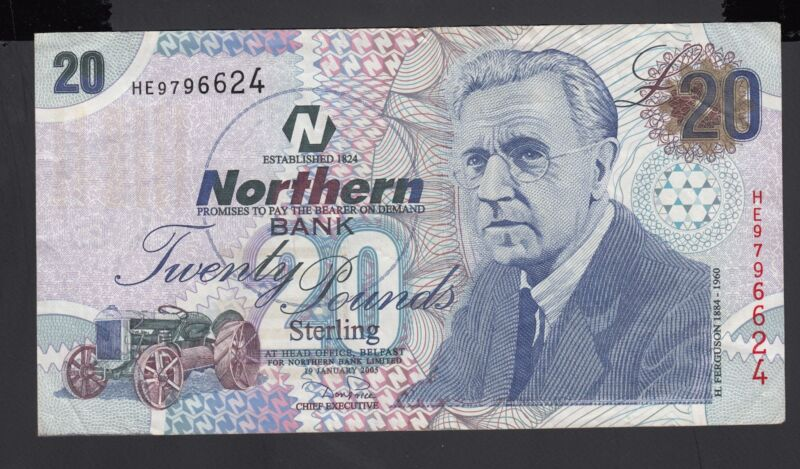 Northern Ireland 20  Pounds 2005 VF P. 207,   Banknote, Circulated