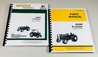 Service Manual Parts Catalog For John Deere 2240 Tractor Technical Shop Book Set