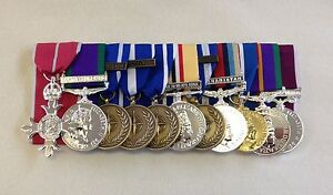 Court-Mounted-Full-Size-Medals-MBE-GSM-NATO-Iraq-Afg-Jubilee-ACSM-LSGC