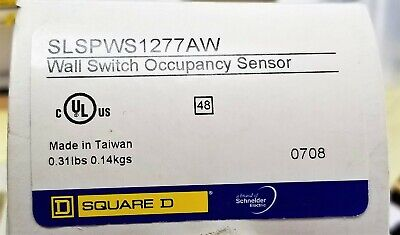 Wall Switch Occpancy Motion Sensor White 120277 Vac 1000 Ft2 180 A9b4