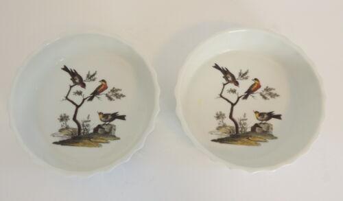 2 Lourioux-Le Faune Porcelain Bird Tart Torte Dish MET Museum France Bakeware