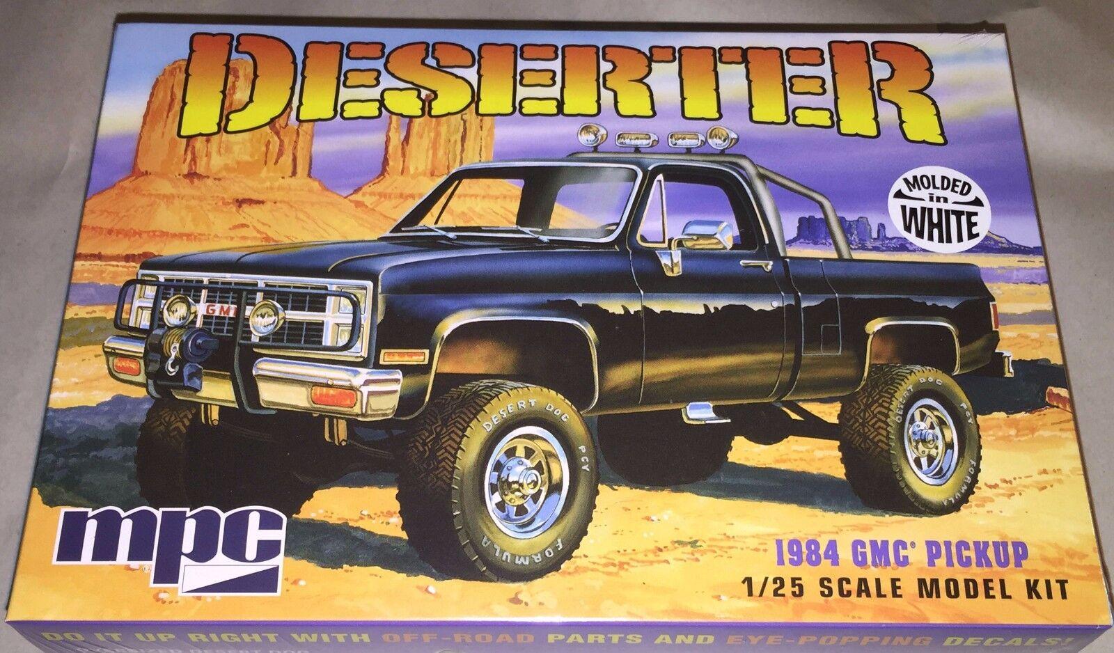 Mpc Deserter 1984 Gmc 4x4 Pickup Truck 1 25 Plastic Model Car Kit New 847 Truck Toys Hobbies