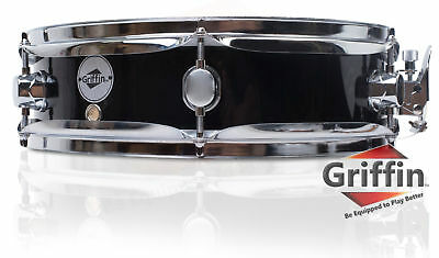 """Piccolo Snare Drum by Griffin - 13"""" x 3.5"""" Black Poplar Wood Shell Percussion"""