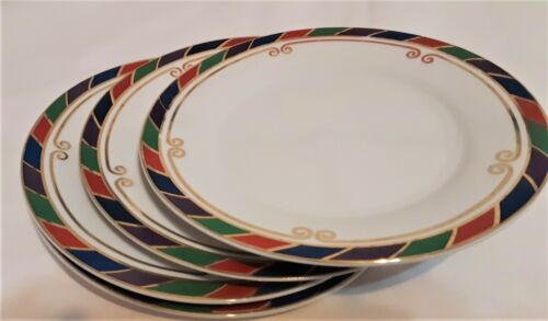 "Pier 1 Celebration Salad Plates (4) Discontinued 7.50"" Colorful"