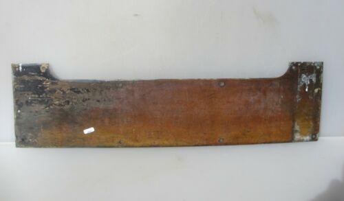 "Vintage Brass Door Kickplate Kick Plate Bumper Guard Hardware Old  29.5""x 8"""