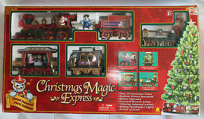 Christmas Magic Express Train Set First Edition Lights Up Plays 19 Musical Tunes