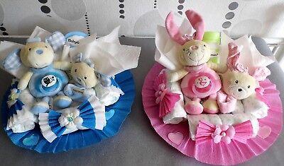 Windeltorten für Mädchen und Jungen, Geschenk zur Geburt, Geburtstag, Taufe (Geburtstagsgeschenke Für Mädchen)