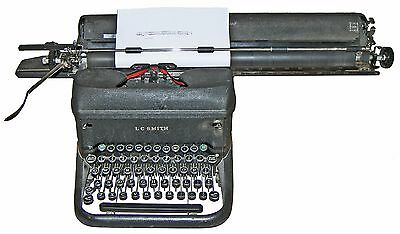 Rare1944 Lc Smith Corona Super-speed Typewriter W 20 Carriage Decimal Tab