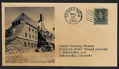 The Shining Overlook Hotel 1909 Opening Featured on Collector's Envelope *1092OP