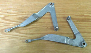 1955 CHEVY DELUXE HEATER CONTROL LEVERS HEAT & DEFROST Pair , NEW