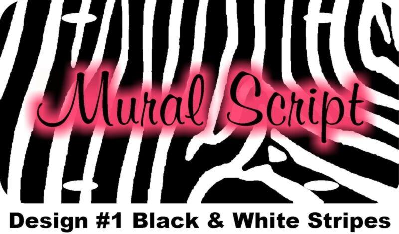 Personalized Custom Zebra Stripes License Plate 12 Diff Fonts 12 Diff Designs