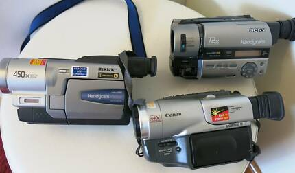 SONY/CANON DIGITAL 8 & MinI DV HANDYCAM VIDEO CAMERAS South Yarra Stonnington Area Preview