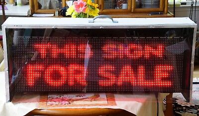 Euc Ebsco 10mm 32x96 Indoor Led Full Color Programmable Window Sign Custom Case