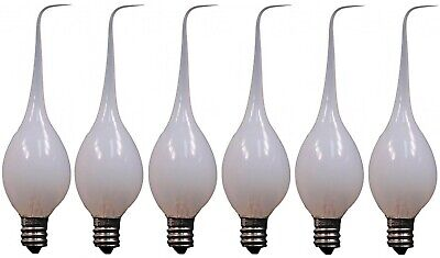 6-Pack, Silicone Dipped Candle Light Bulbs, 7 Watt, Longer Life Country Style