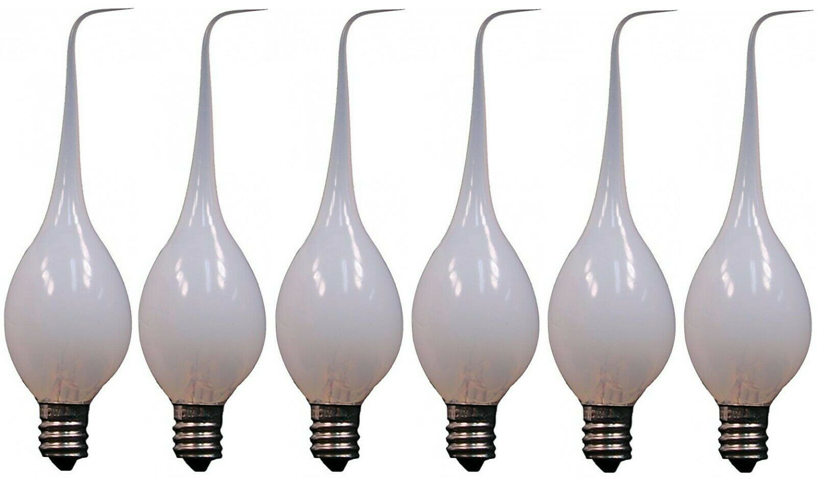 6-Pack, Silicone Dipped Candle Light Bulbs, 7 Watt, Longer Life Country Style Home & Garden