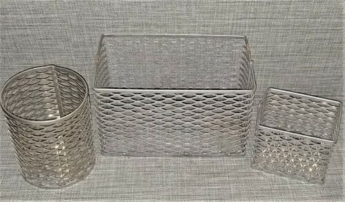 Aluminum Test Tube, Glassware Wire Mesh Autoclave Baskets - Set of 3