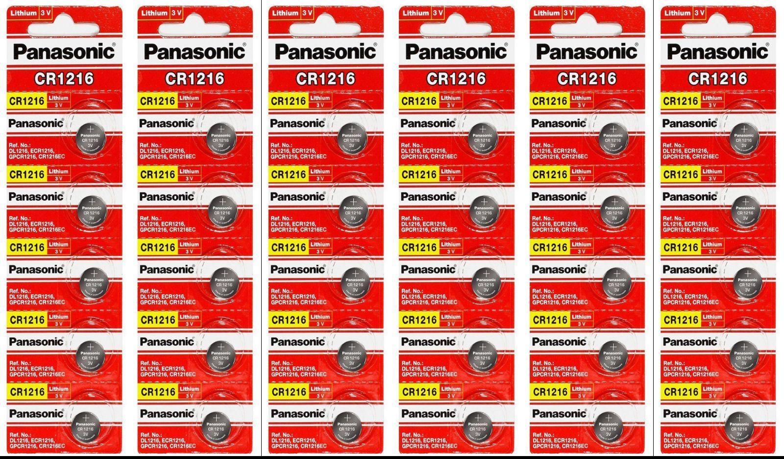 Pack Of 30 Cr1216 Ecr1216 Panasonic Lithium 3v Watch/elec...