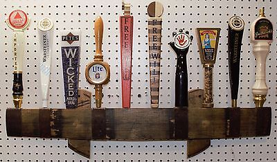 oak whiskey  barrel stave 10 beer tap handle wall display