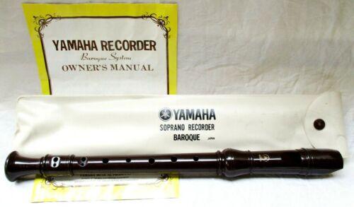 Yamaha Soprano Recorder Baroque MINTY!!
