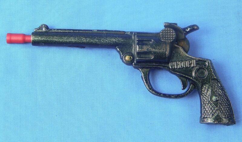 Vintage US Cast Iron Whoopie Toy Cowboy Cap Gun Single Action Revolver Pistol