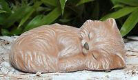 Figura Di Pietra Gatto Micio Animale Scultura Giardino Tomba Statua Decorativa -  - ebay.it