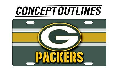 Green Bay Packers NFL Aluminium License Plate Tag Custom For Car
